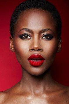 ruby woo on black skin - Google Search | Red Lipstick ...