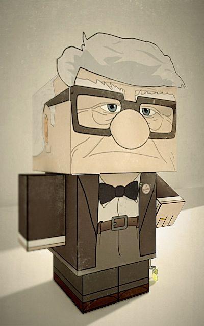 "Carl Fredricksen"" #up #CubeCraft #Maya #Vray | Paper crafts, Paper ..."