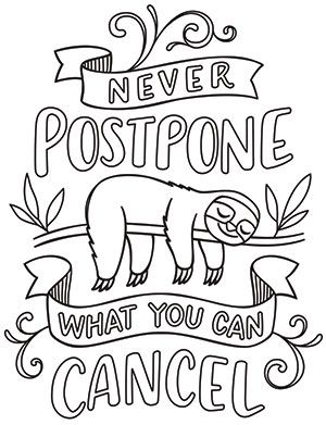 never postpone what you can cancel design uth18745 from