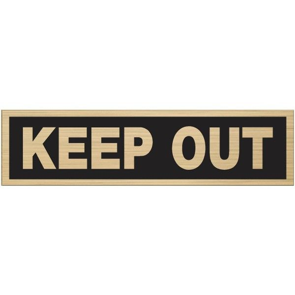 "Word Signs Wall Decor Impressive The Hillman Group 2 X 8"" Black & Rednickel Plastic Keep Out Sign 2018"
