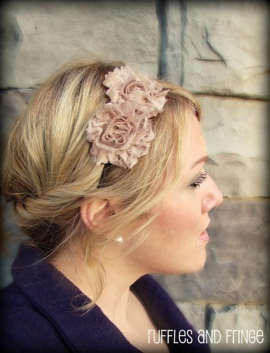 pretty hair styles for hair headband with flower hairstyles for hair 1710