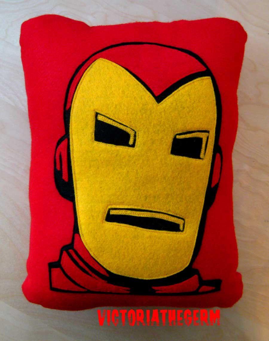 Iron Man Felt Pillow | Things To DIY | Pinterest | Pillows ...
