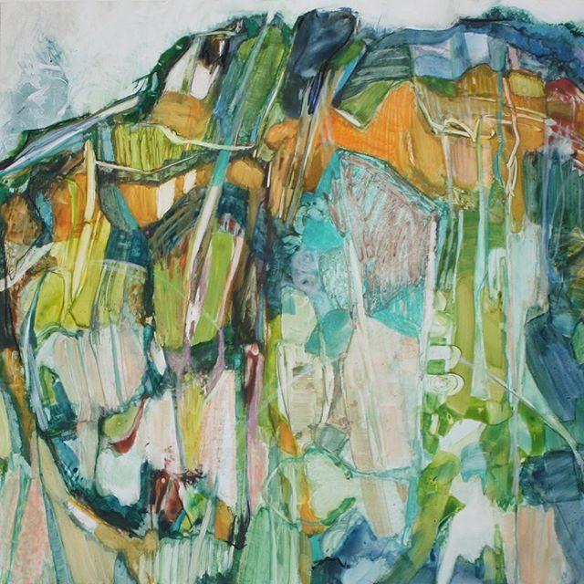 "Mountain Within, 11 x 14"", Mixed Media on Yupo. #miarisbergart , #contemporaryart #mixedmediaonyupo #mixedmediapainting #målning"