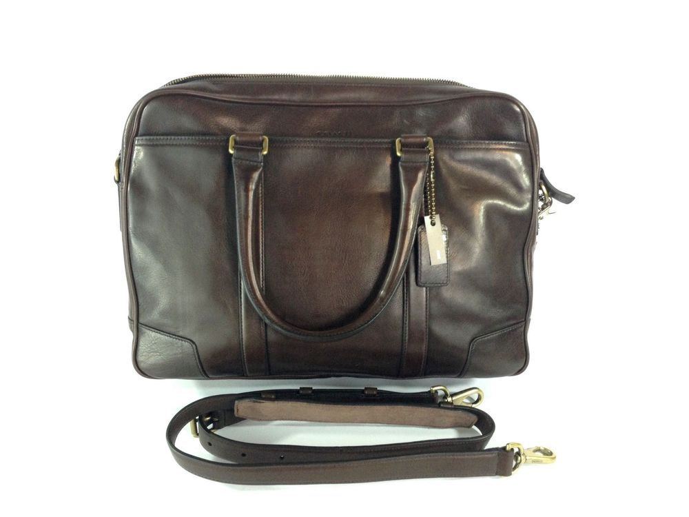 eec4c67b8 NWT Coach Mens Bleecker Commuter Briefcase Leather Mahogany Brown MSRP $598  #Coach #MessengerCrossbody