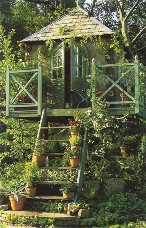 Treehouse Greenhouse With Images Dream Garden Tree House