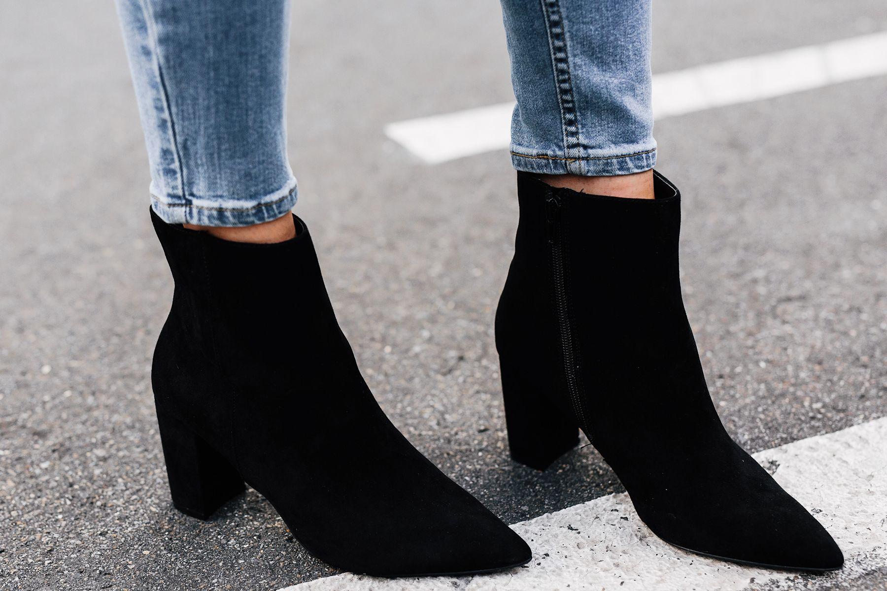 ca09a5226a4 Woman Wearing Steve Madden Andi Black Booties Fashion Jackson San ...