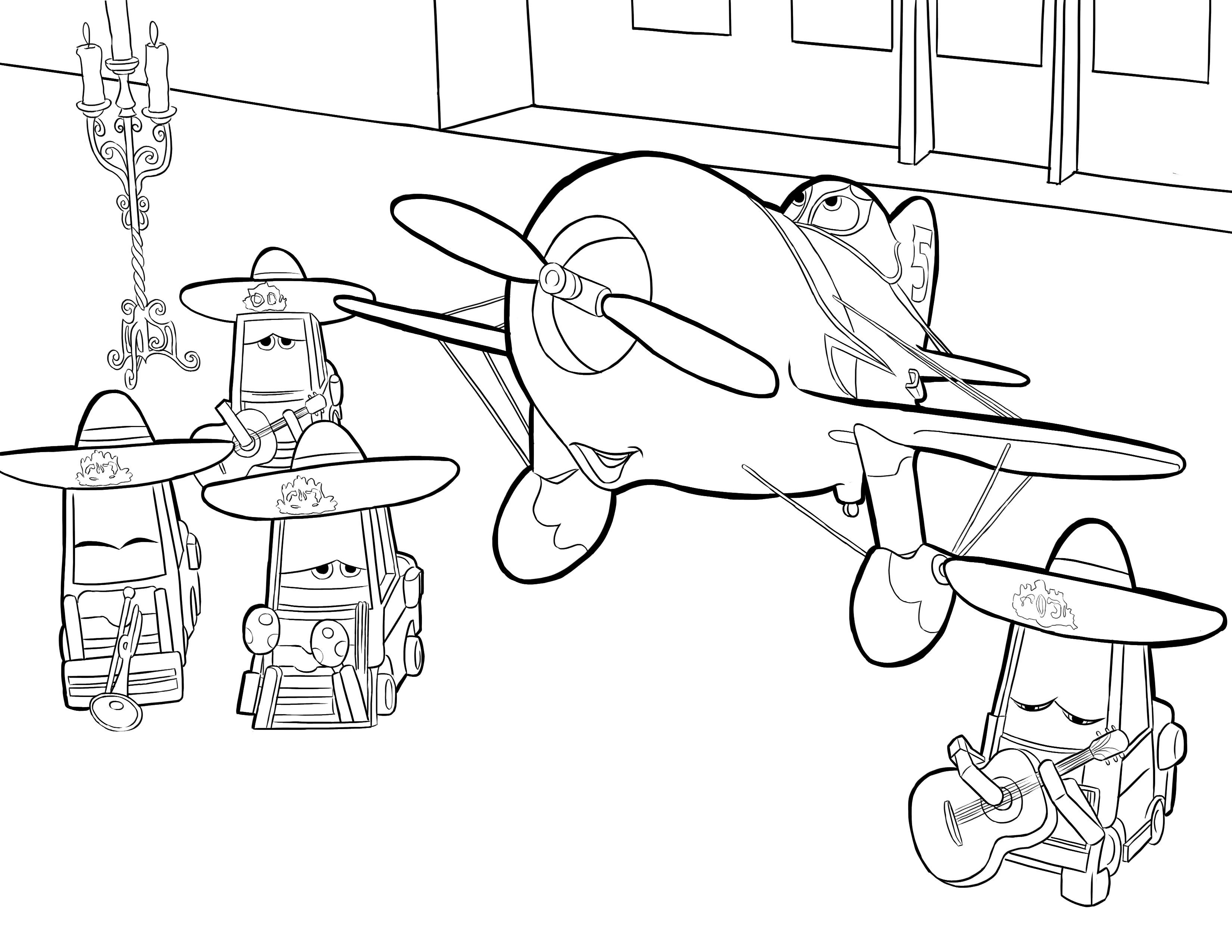 Disney's Planes Coloring Pages Sheet, Free Disney ...