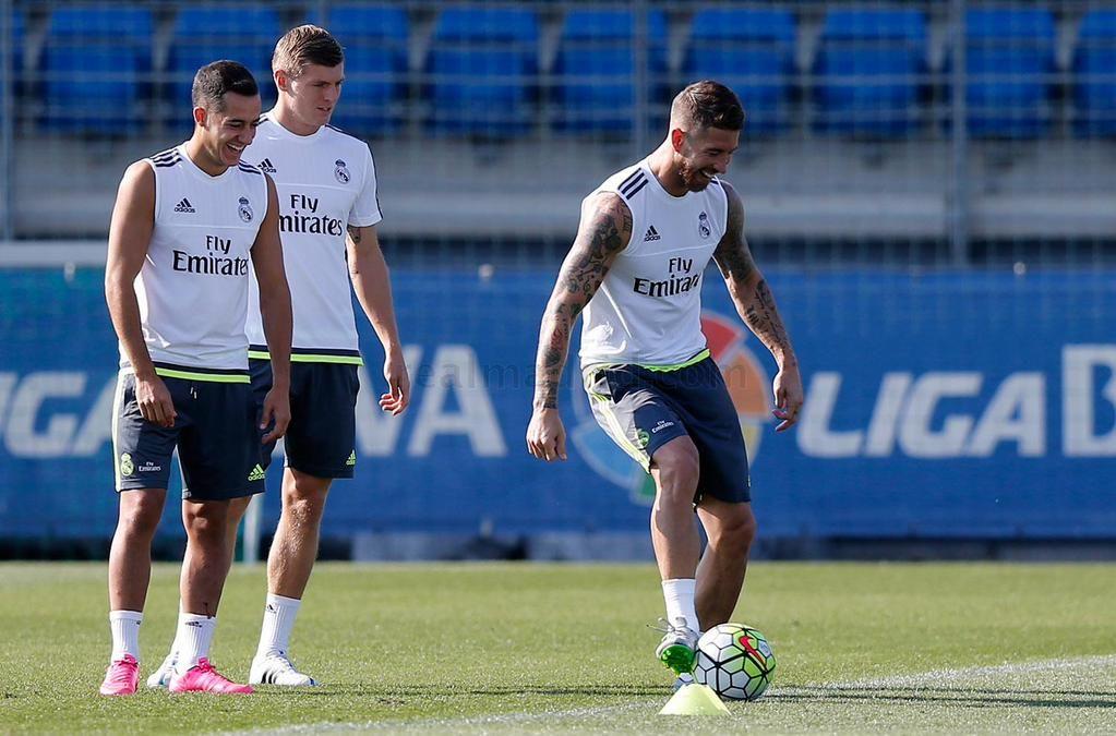 Entrenamiento | Sergio Ramos, Lucas Vázquez & Toni Kroos.