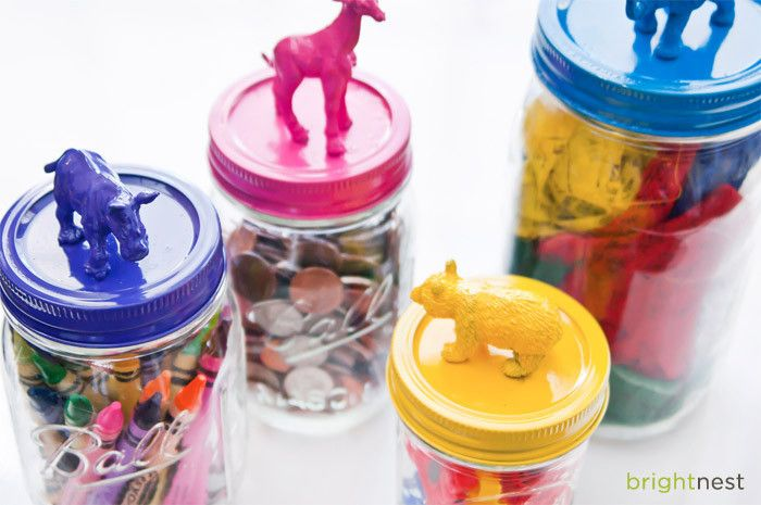 DIY storage jars and tons of other great toy storage solutions!