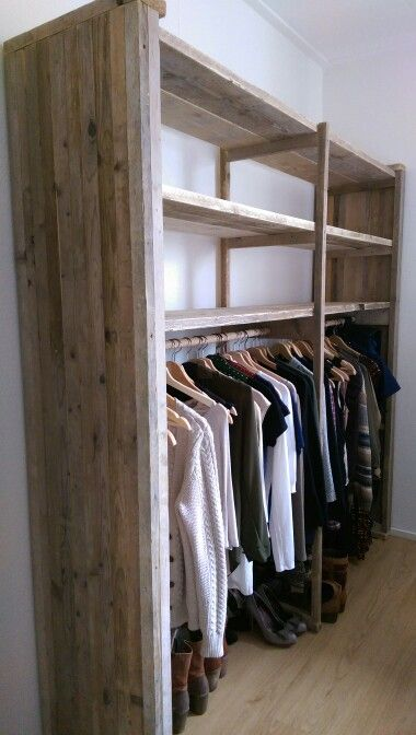 Stijgerhout kledingkast prateleira Pinterest Armario, Vestidor