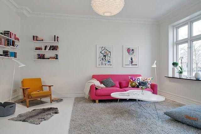 dco salon moderne design scandinave deco scandinave noir et blanc - Salon Scandinave Rose