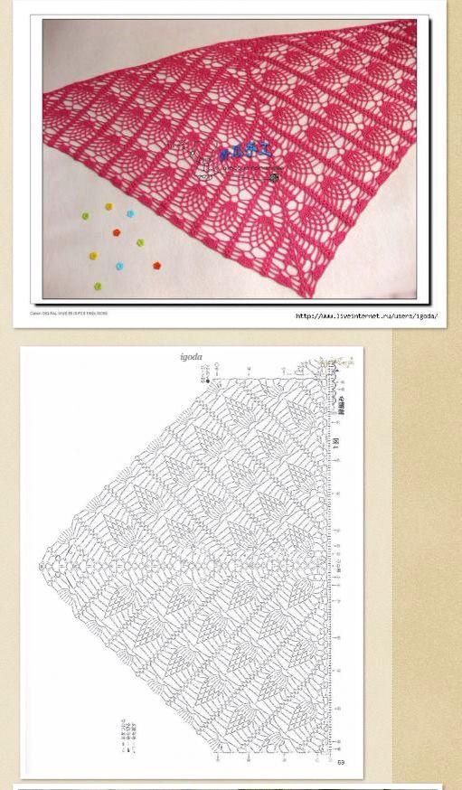 Pin de otilia rodriguez en triángulo de gancho | Pinterest | Chal ...