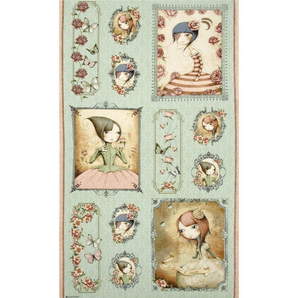 12 x 12 fabric scrapbook album Santoro