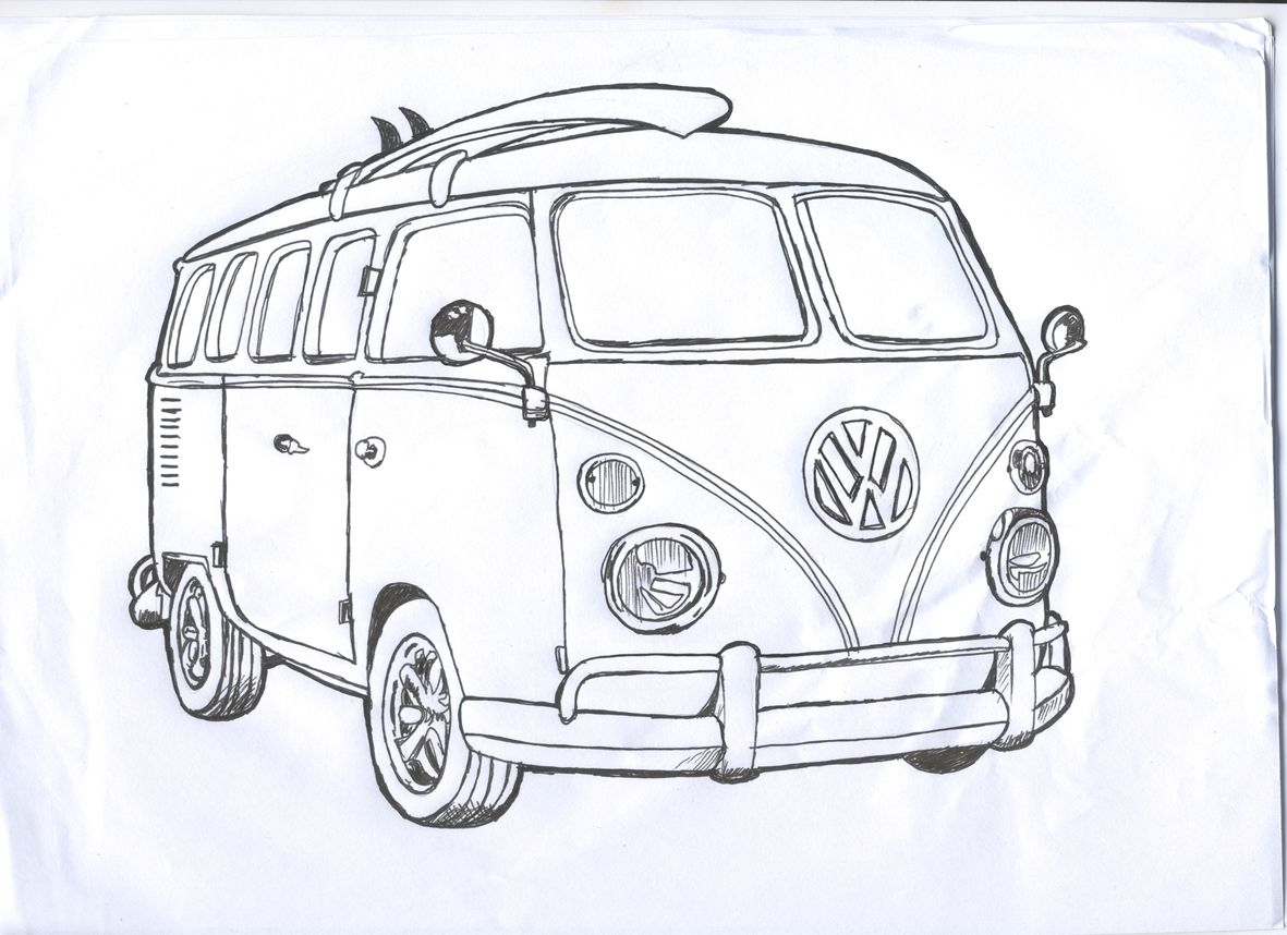Kombi Surf Desenhos De Carros Desenhos De Kombi Desenhos De Fusca