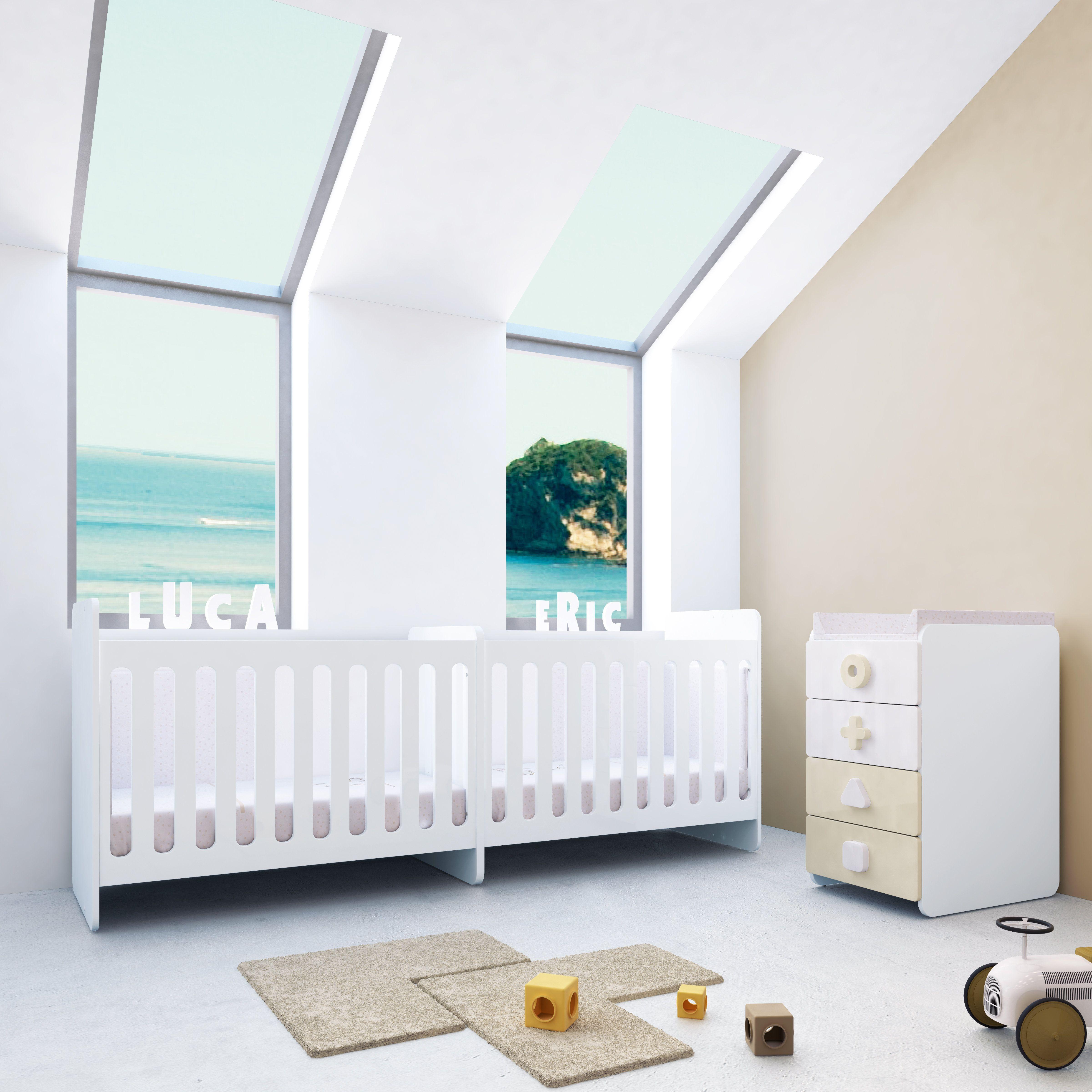 Habitaci n infantil twins due maths de alondra la - Diseno habitacion infantil ...