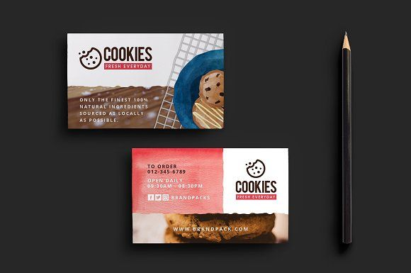 Cookie Shop Business Card Template Business Cards Creative Templates Business Card Template Business Cards Creative