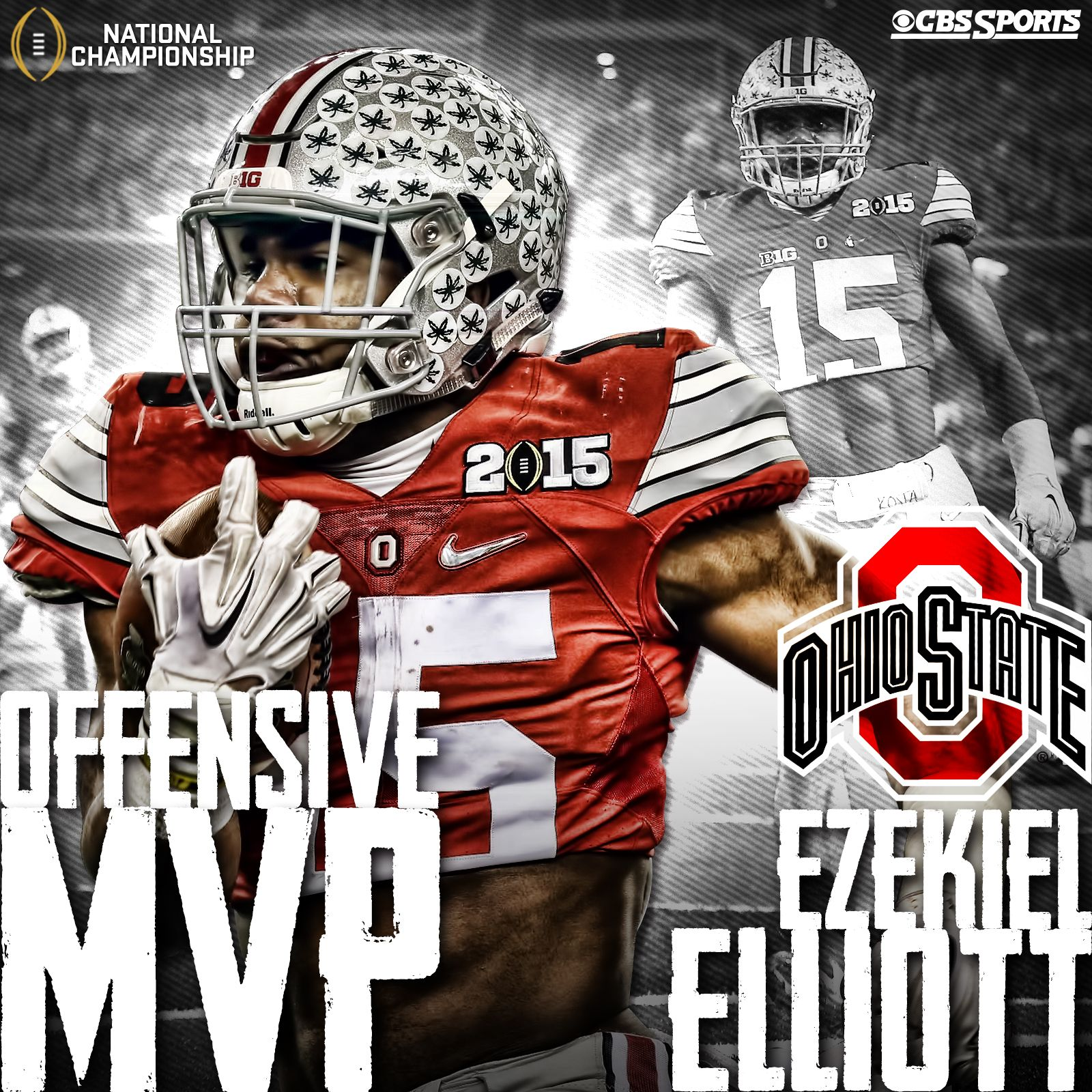 Ezekiel elliott ohio state beat oregon to win national - Most Rushing Yards In Championship Game History 4 Tds And 1 National Championship Ezekiel Elliott Had A Day For The Ohio State Buckeyes
