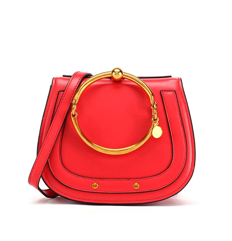 84aea2b0c9 Chloe-inspired Top Handle Handbag in Red Leather // Designer ...