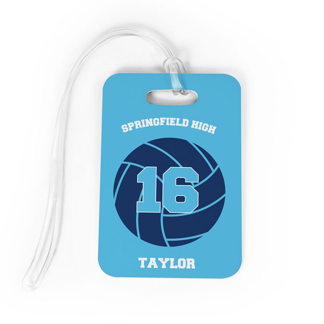 Volleyball Bag Luggage Tag Personalized Volleyball Team Volleyball Bag Volleyball Team Volleyball Bag Tags