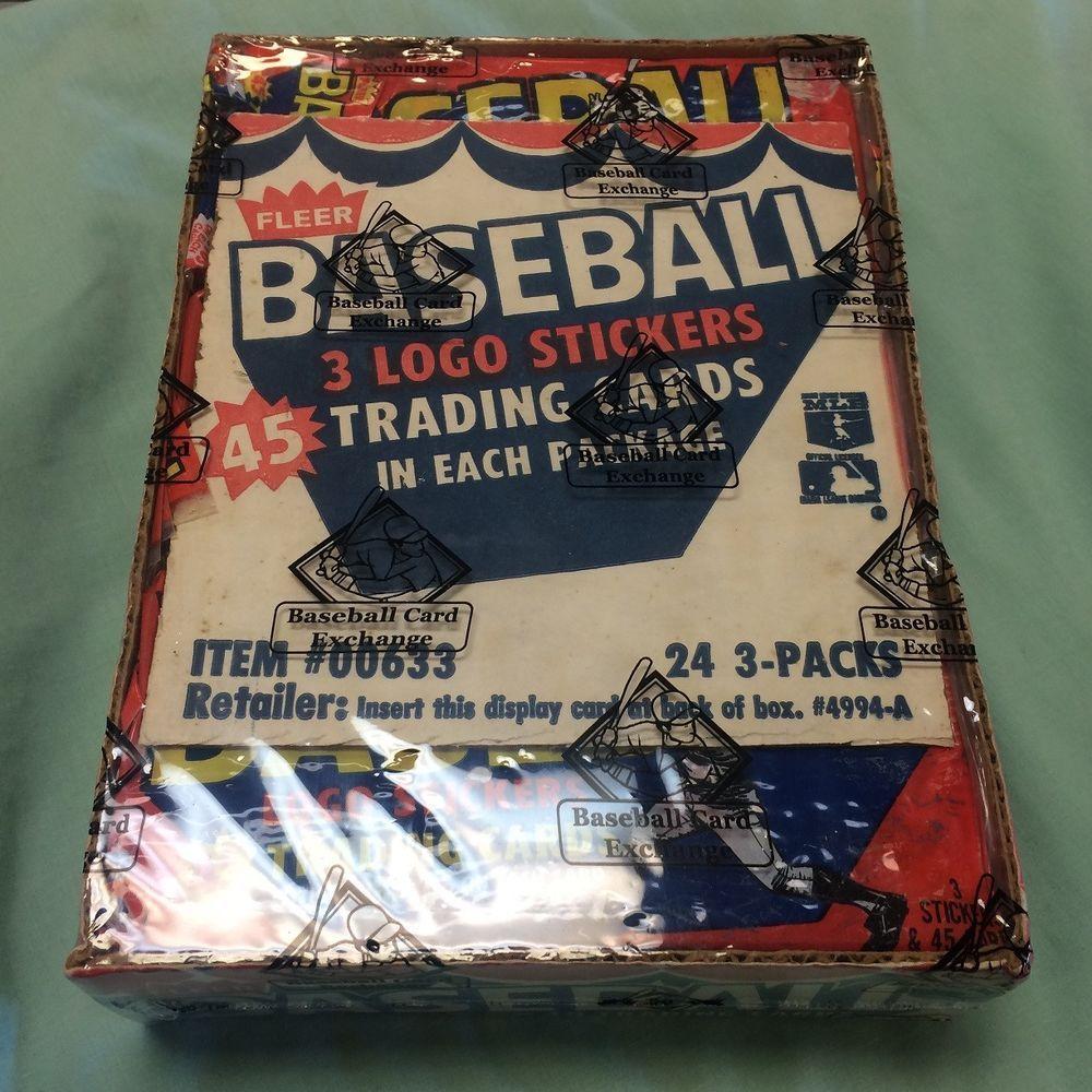 1987 fleer baseball factory sealed box 24 racks 3 wax
