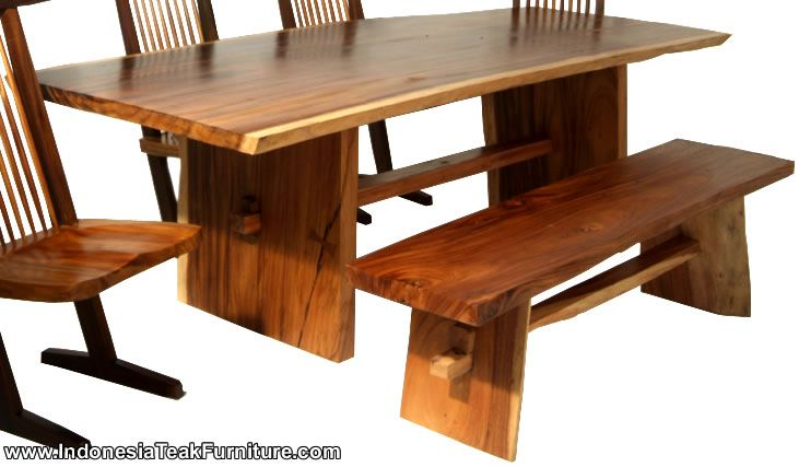WOODEN TABLE FACTORY Natural Solid Wood Table Bench Furniture Set from Bali Indonesia Java  sc 1 st  Pinterest & WOODEN TABLE FACTORY Natural Solid Wood Table Bench Furniture Set ...