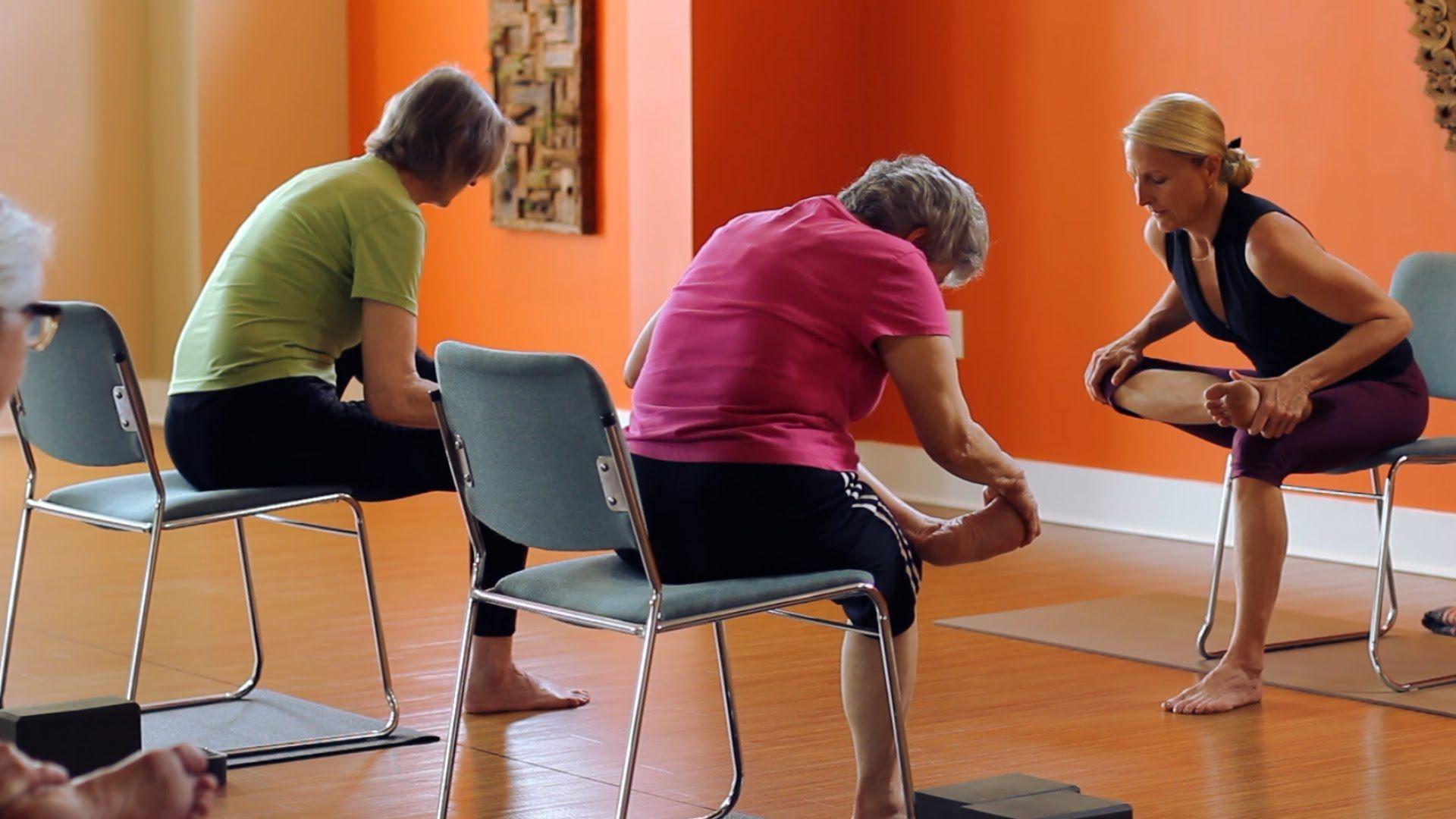 45 Minute Chair and Mat Yoga Class - Kate Doran | Yoga für ...