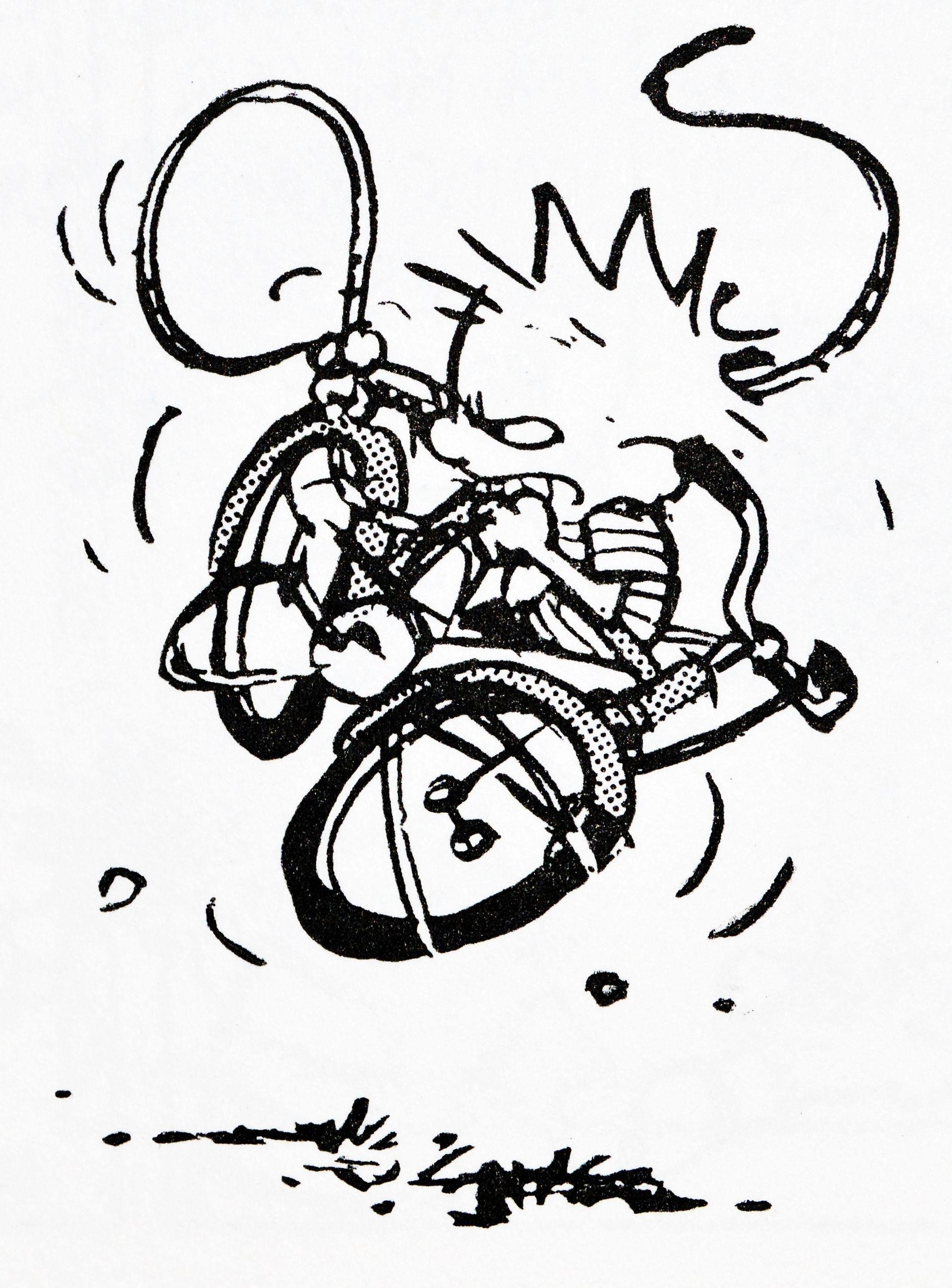 Calvin and Hobbes (DA) - the bike strikes again | Funny | Pinterest ...