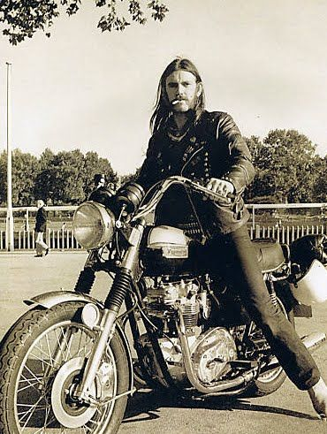 You might be cool, but you'll never be Lemmy-on-a-Triumph cool.