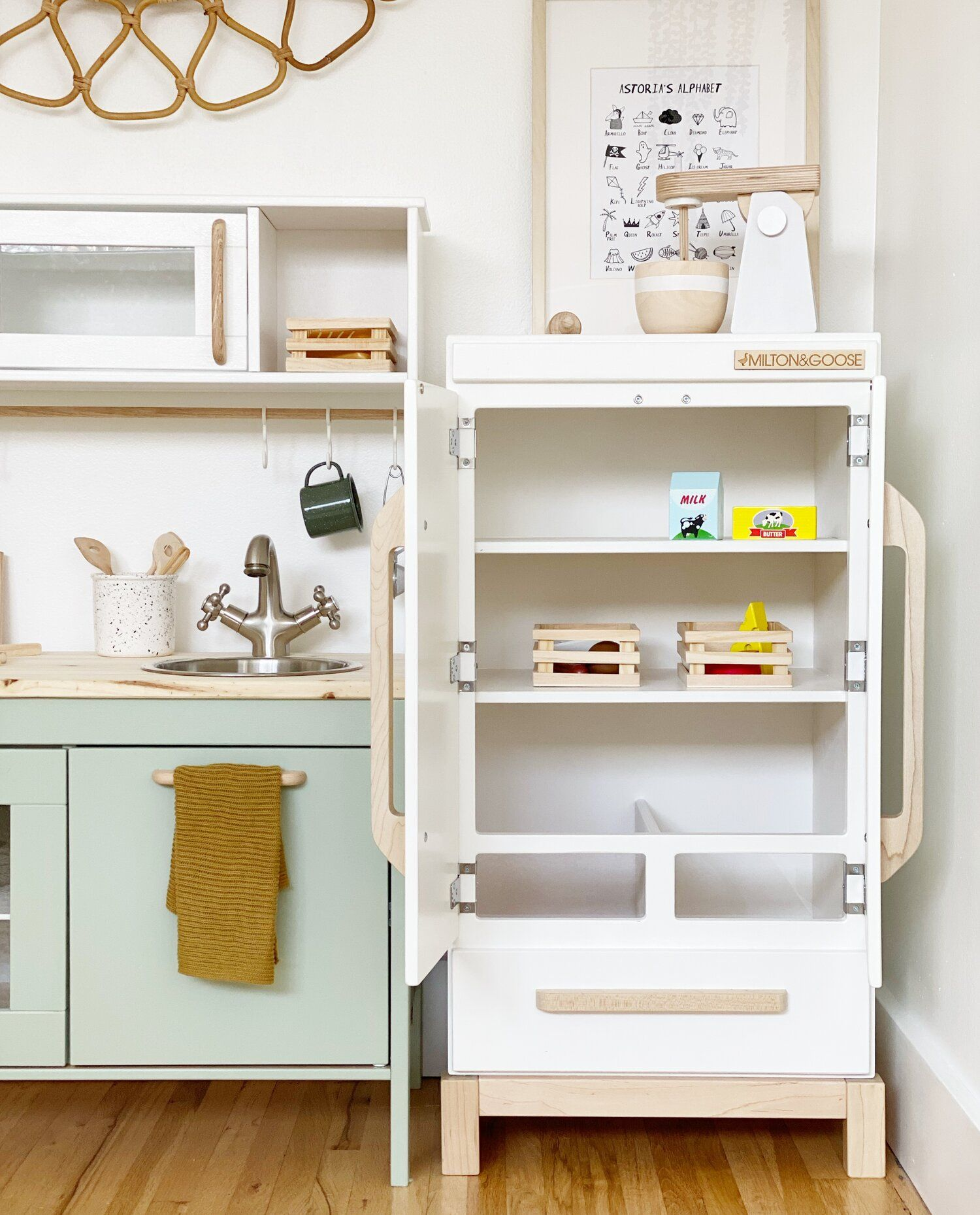 Ikea play kitchen hack — in 2020 Ikea play kitchen, Play