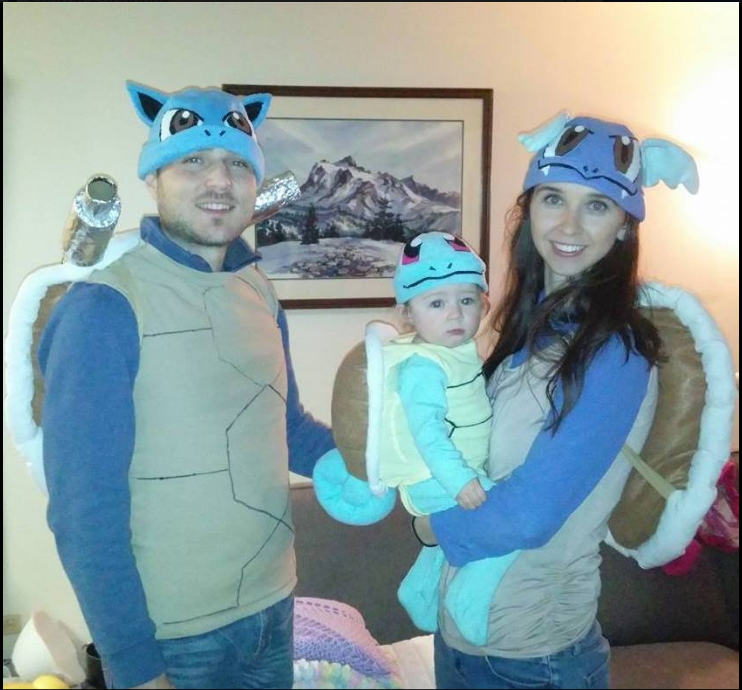 Squirtle Wartortle And Blastoise Halloween Costumes Hand Made