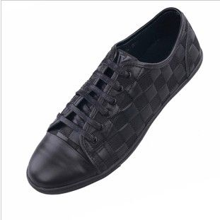 Fashion male lacing shoes casual high quality calf skin male genuine leather shoes low-top male $97.06