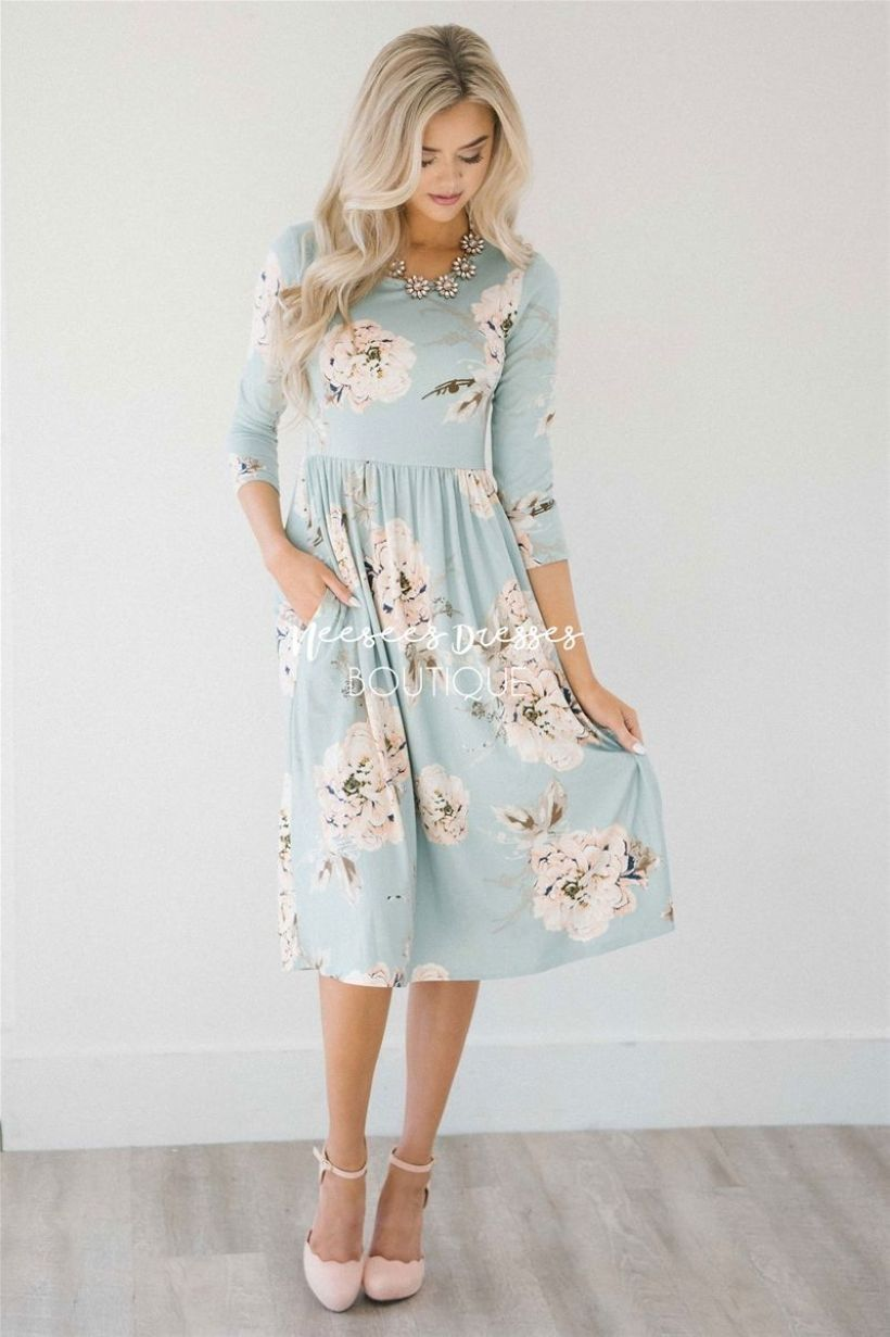 34 cute floral dresses for spring outfits 2018