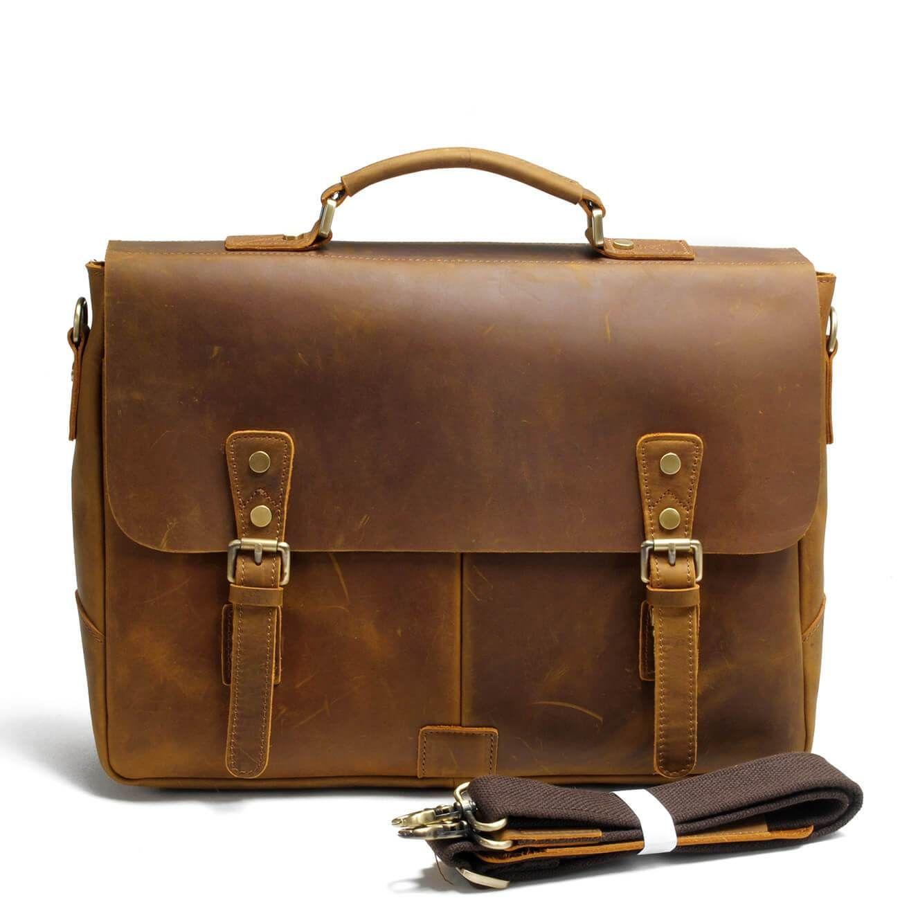 b9dc95a9f8 Top Grain Leather Men s Handbag