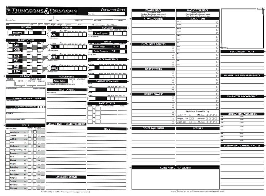 Pin On Character Sheets