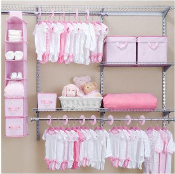 Baby Closet Organizer Systems Kids Children Nursery Storage Set Delta Pink  #Delta