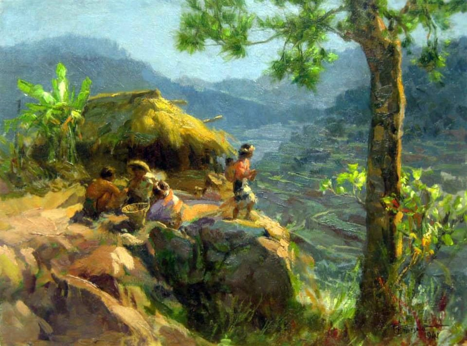 By Fernando Amorsolo famous Filipino painter Phong