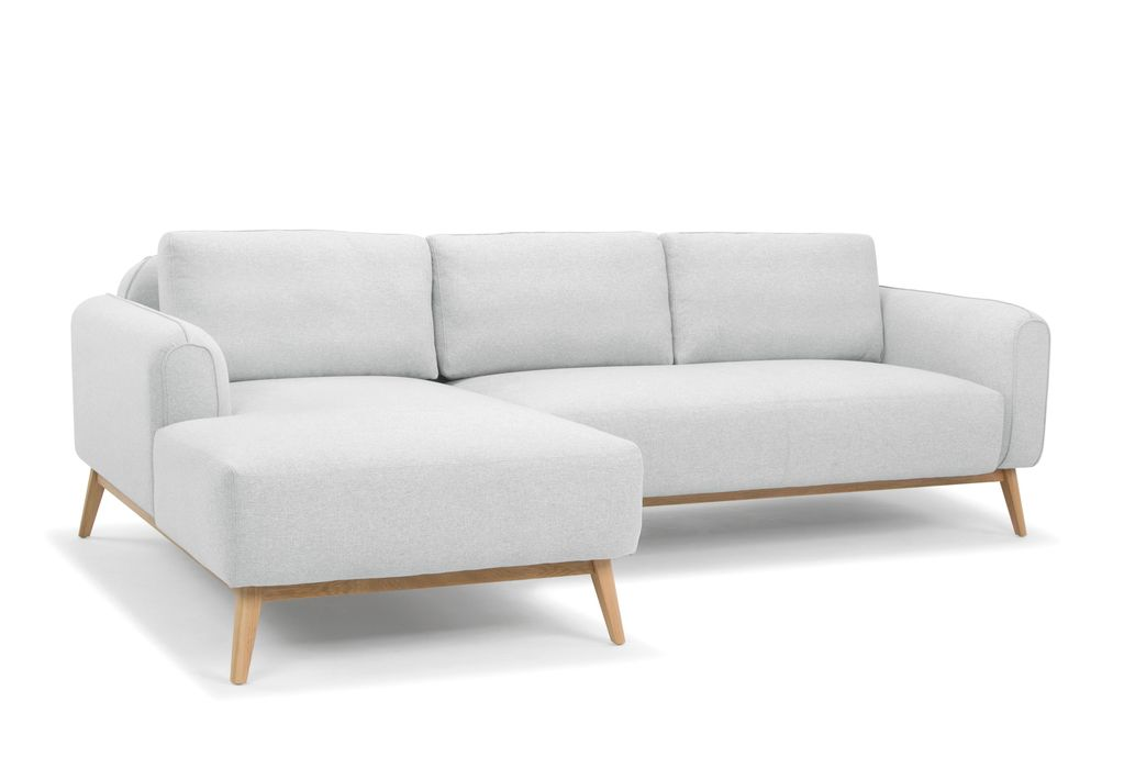 Hunter Danish Style 3 Seater Sofa with Chaise - Pale Grey - Left Hand Facing  sc 1 st  Pinterest : left hand chaise - Sectionals, Sofas & Couches