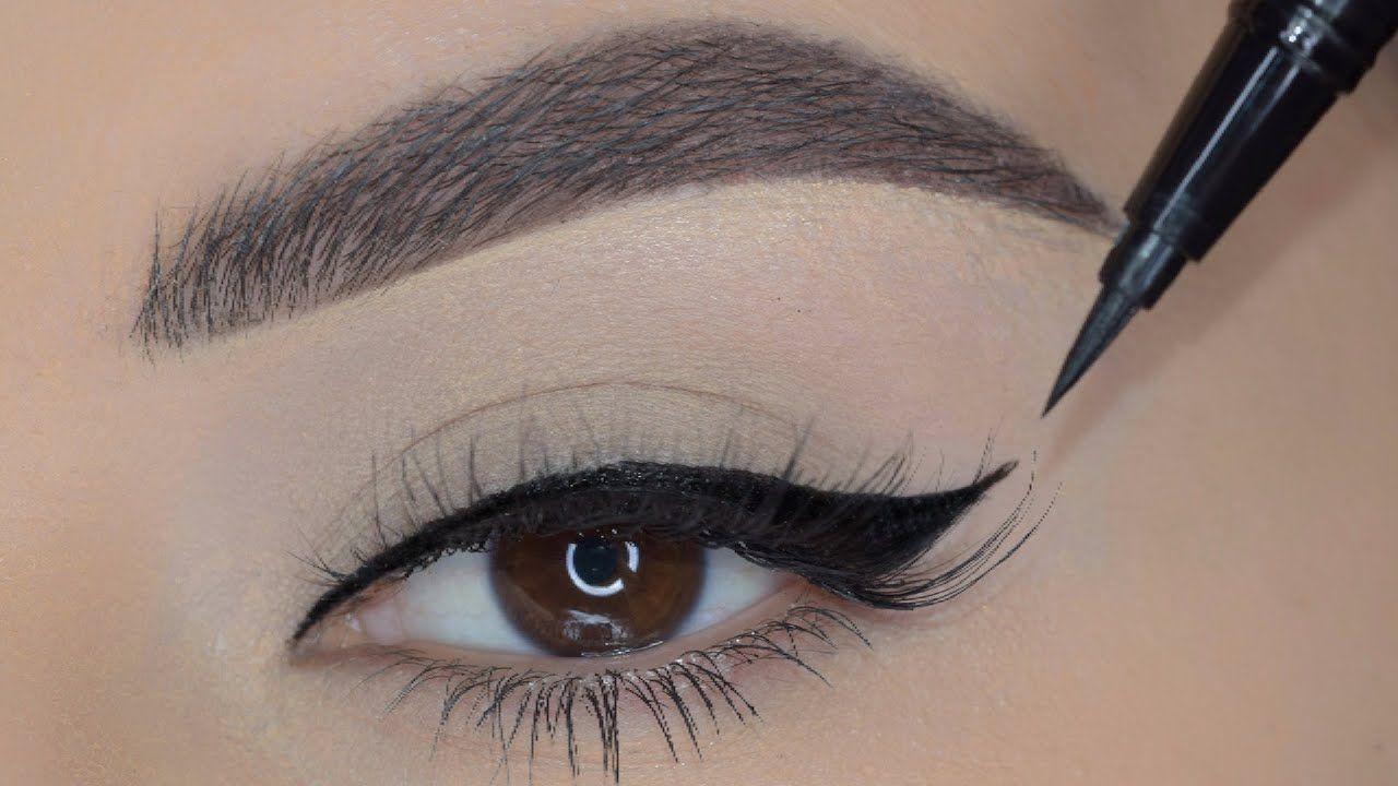 Eyeliner Tutorial For Beginners طريقة رسم الايلاينر للمبتدئات Youtube Skin Makeup Makeup Makeover Makeup