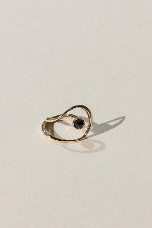 Faris Saturn Ring Bronze Garnet On Garmentory Rings Garnet Open Ring
