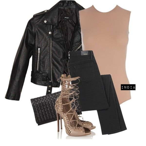 A fashion look from October 2015 featuring Nasty Gal jackets, Goldsign jeans and Abro clutches. Browse and shop related looks.