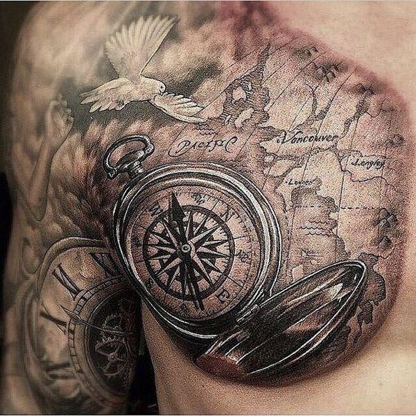De 50 Tatuajes De Brujulas Que Te Van A Encantar Tatuajes Brujula Diseno De Tatuaje De Compas Tatuajes De Relojes