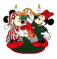 Kerst disney cliparts