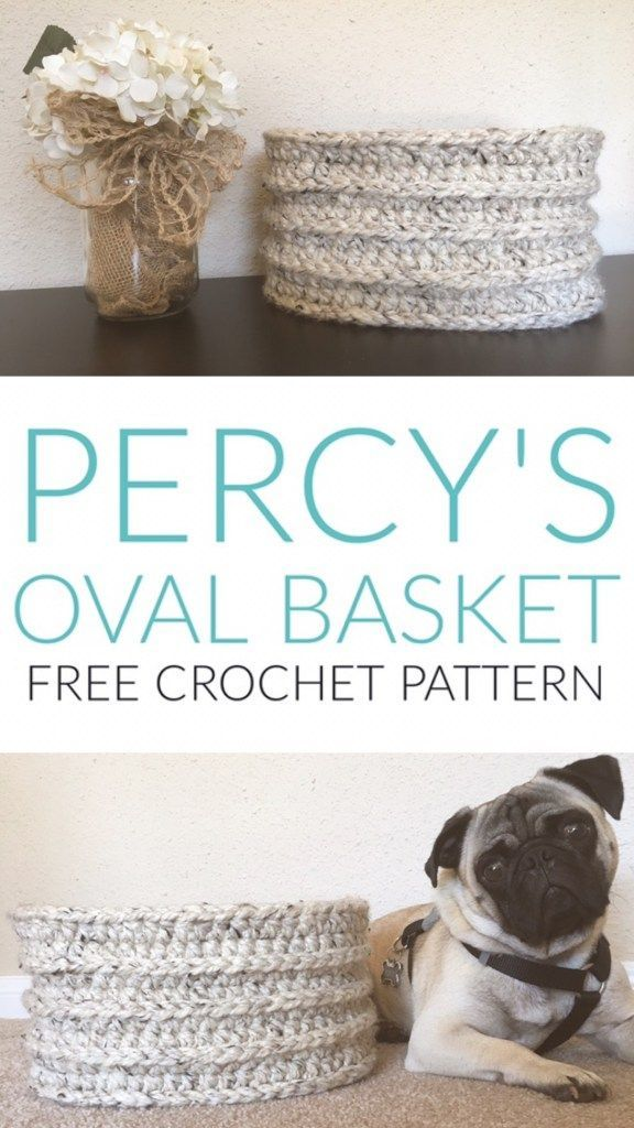 Percy\' Oval Basket - Free Crochet Pattern from Kaite\'s Crochet, A ...
