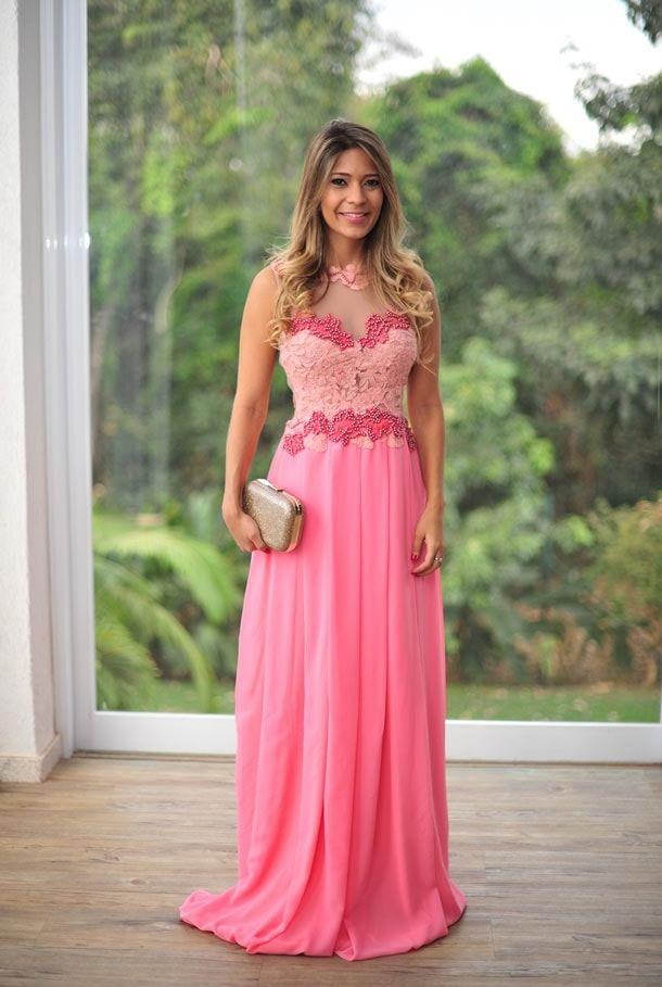 vestido para madrinha longo rosa 6 … | Pinteres…