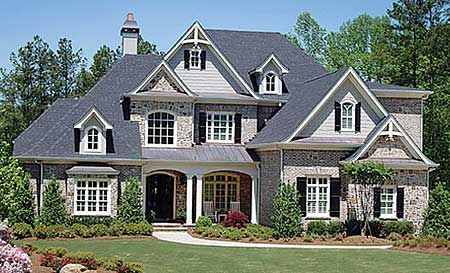 Plan No: W15644GE  Style: Traditional, European  Total Living Area: 4,461 sq. ft.  Main Flr.: 3,029 sq. ft.  2nd Flr: 1,432 sq. ft.  Rear Porch: 175 sq. ft.  Attached Garage: 3 Car, 665 sq. ft.  Bedrooms: 5  Full Bathrooms: 4  Half Bathrooms: 1