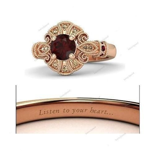 Rose Gold Finish Multi-Color Stones Disney Pocahontas Princess Engagement Ring…
