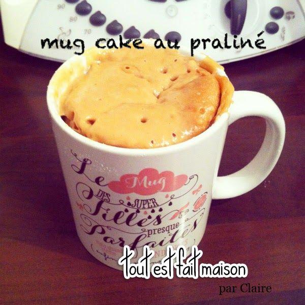 Mug cake au chocolat praliné