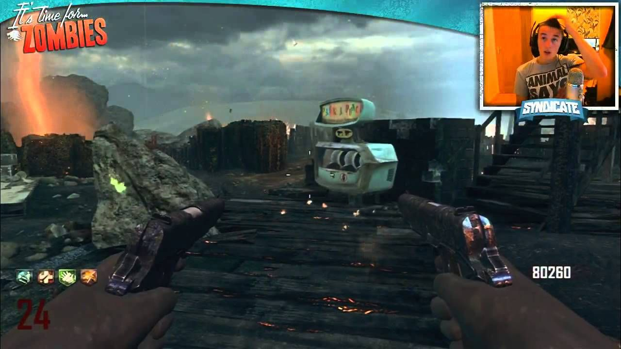 Black Ops 2 Zombies Nuketown Round 36 Gameplay Tutorial W