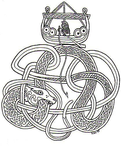 j rmungandr the midgard serpent viking pinterest tatouage viking celtique et vikings. Black Bedroom Furniture Sets. Home Design Ideas