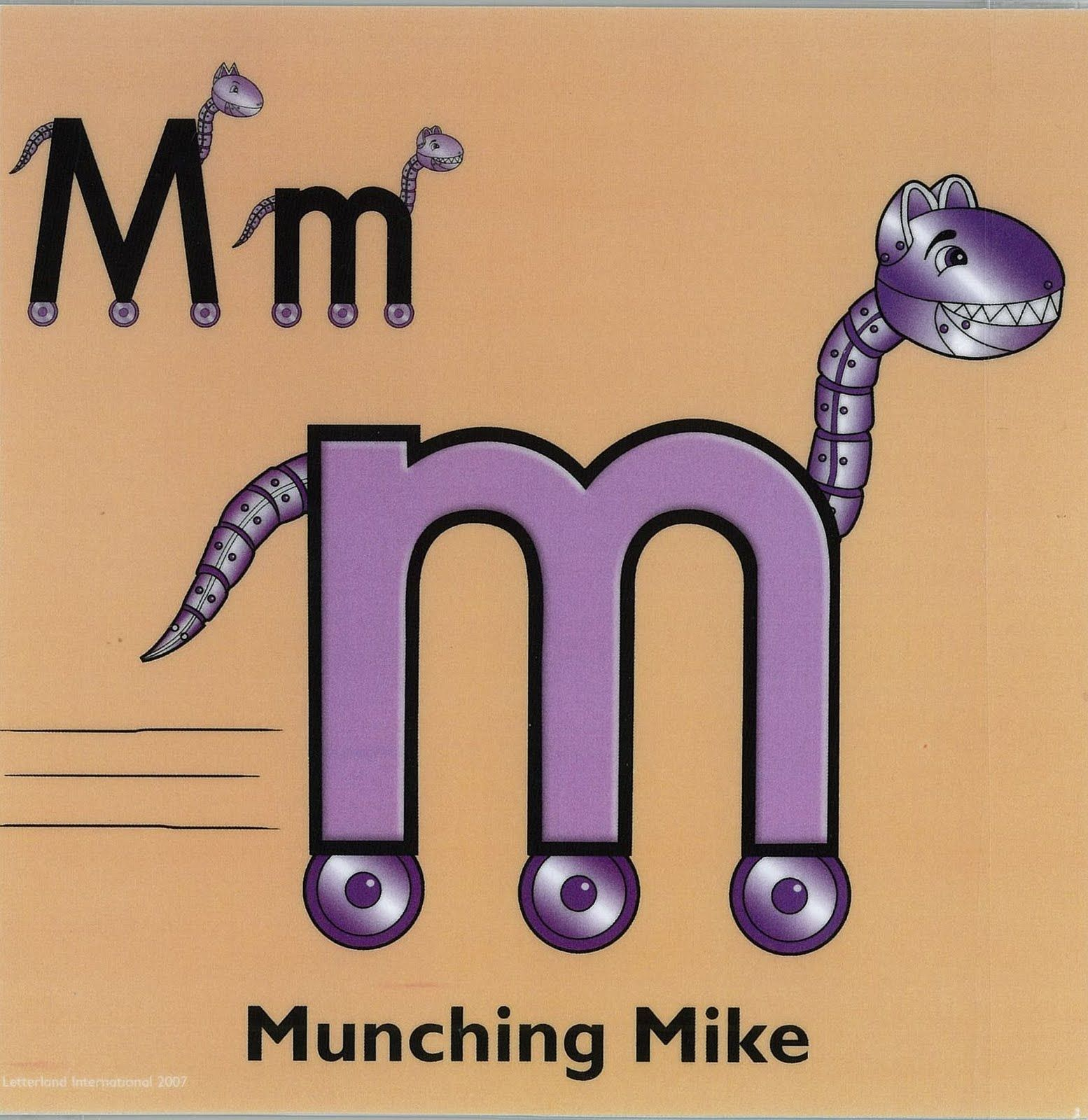 Letterland Munching Mike